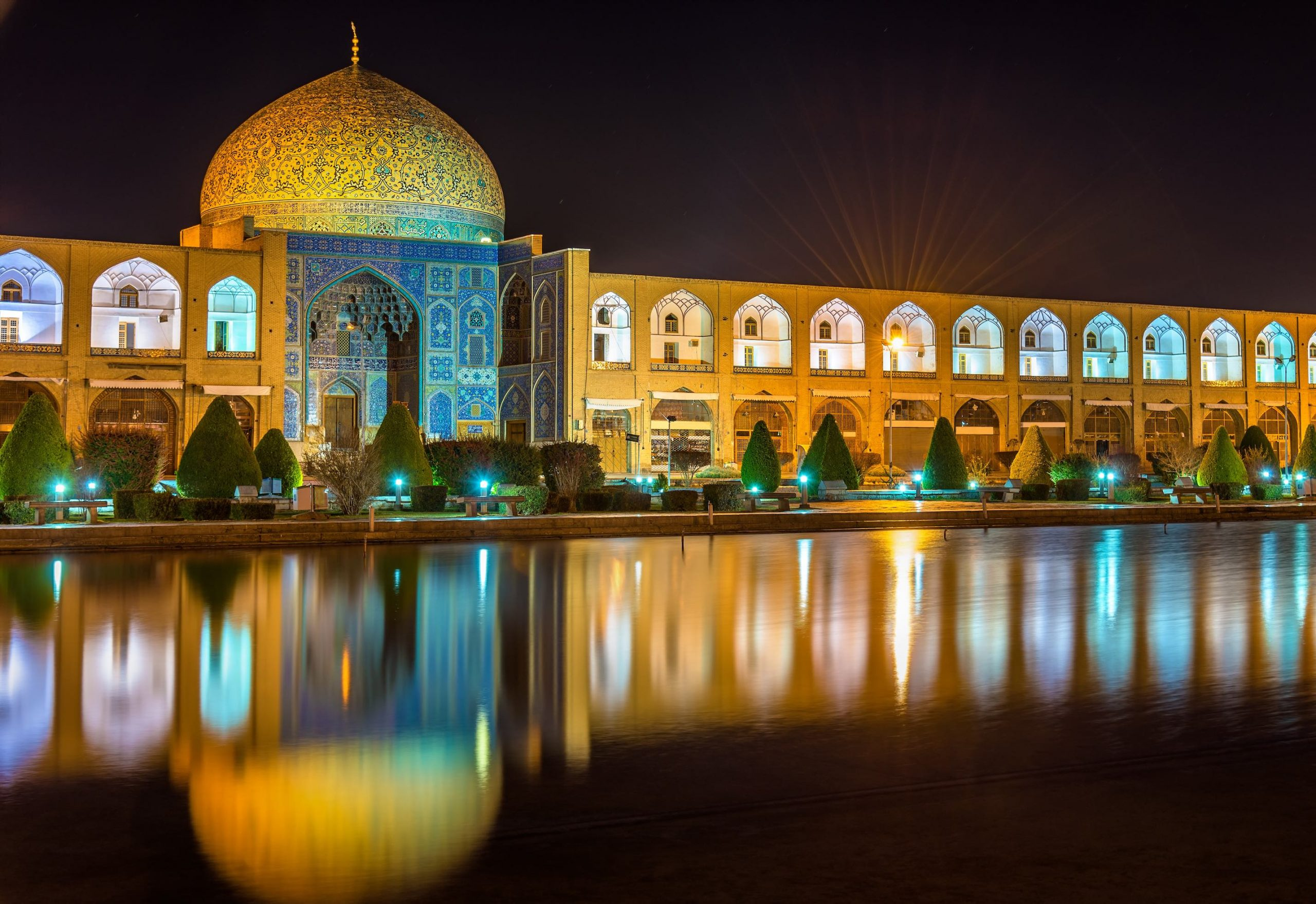 Iran Tours - NZ Travel and Tour - Sheikh Lotfollah Mosque on Naqsh-e Jahan Square of Isfahan, Iran-full view-M