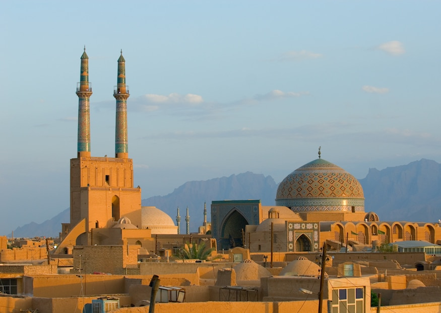 Iran Tours - NZ Travel and Tour - Sunset over ancient city of Yazd, Iran